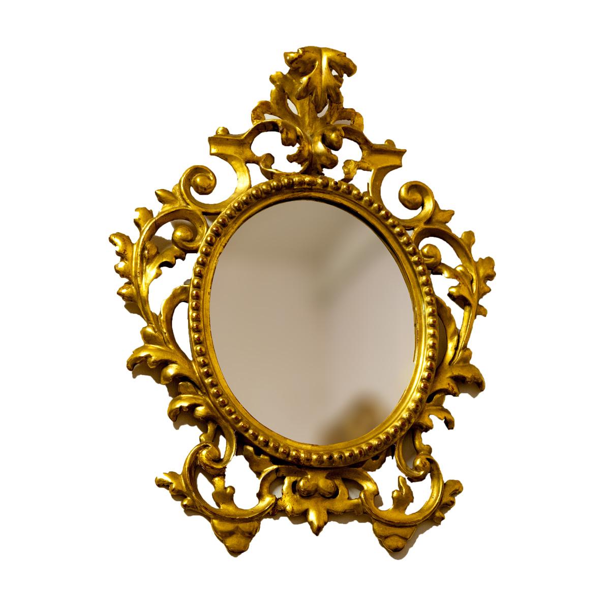 Coppia specchi dorati