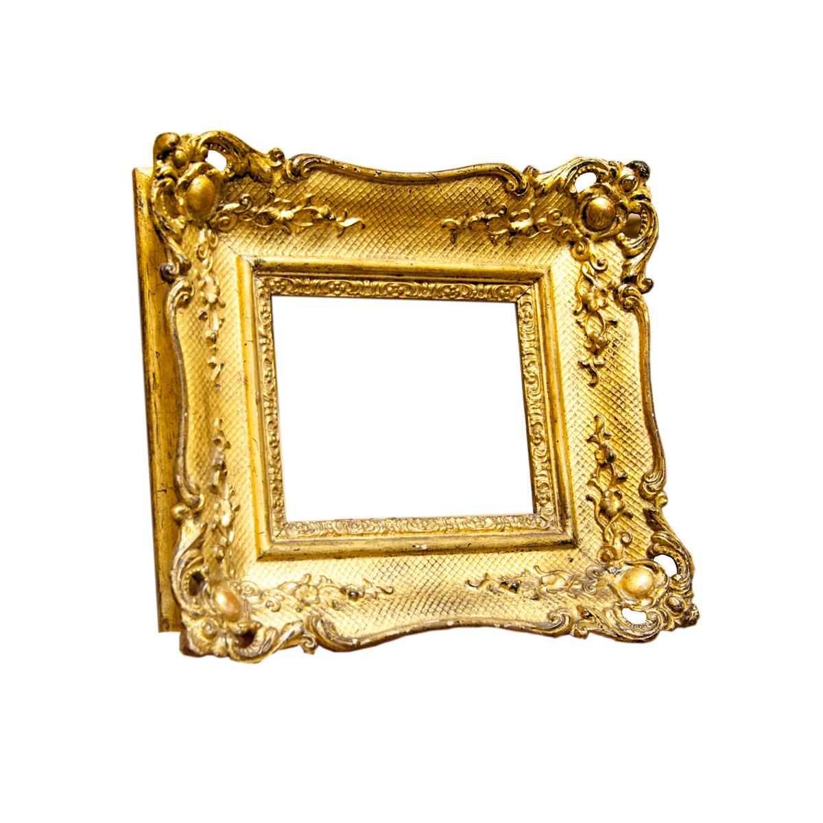 Cornice quadrata dorata