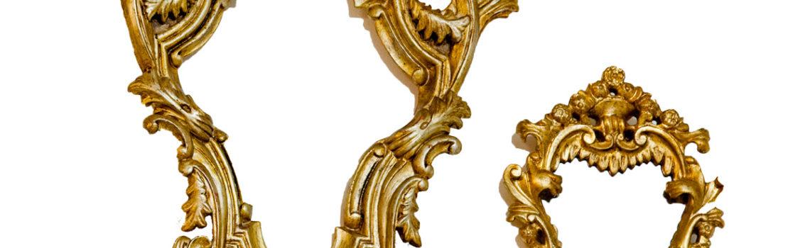 Cornici argento dorato