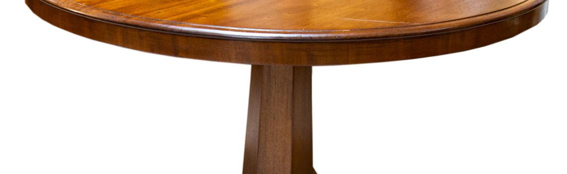 Tavolo rotondo con piede a colonna