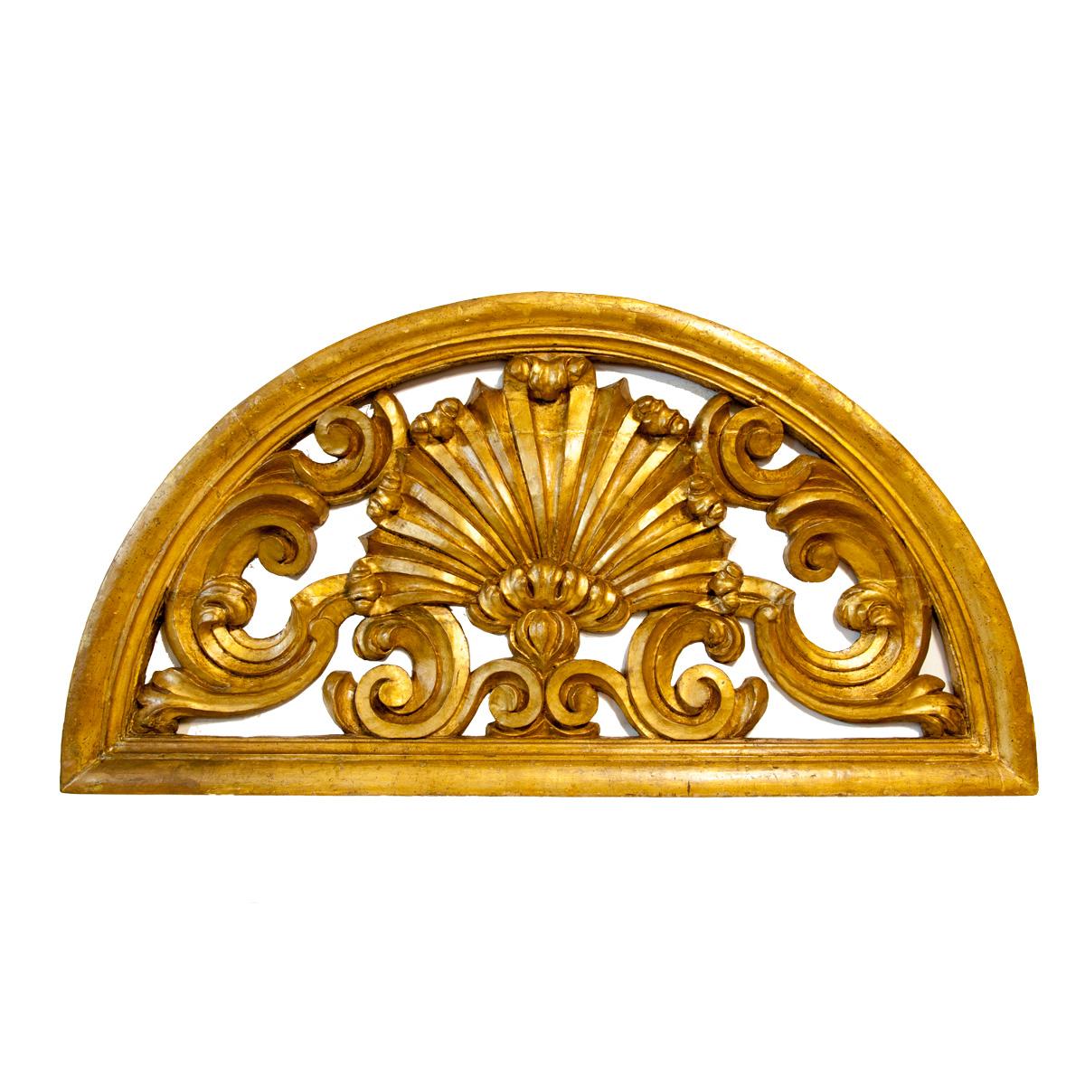 Testiera letto in legno dorato